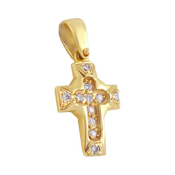 ΣΤ433P -Χρυσός βαπτιστικός σταυρός