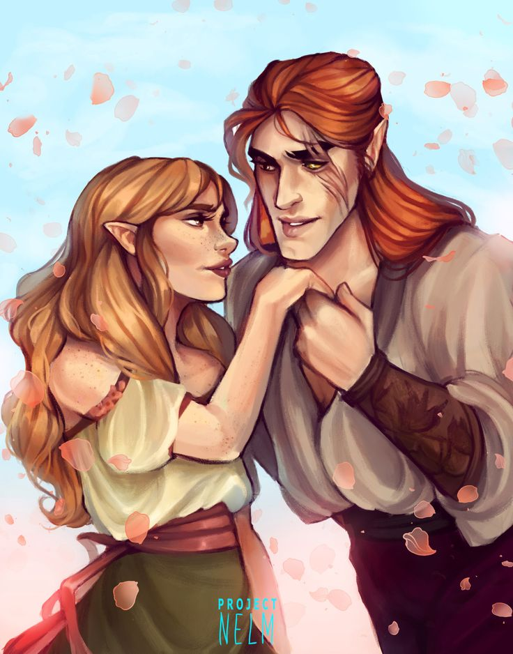 Elain and Lucien by ProjectNelm. ACOWAR. A Court of Wings and Ruin. Sarah J Maas