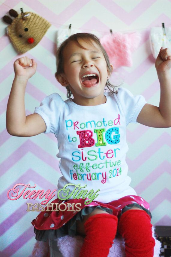 Promoted to Big Sister Shirt  Big Sister by TeenyTinyFashions, $23.00