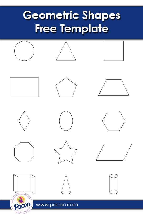 Free Downloadable Template With Geometric Shapes Perfect