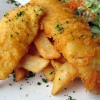Cheesecake Factory Crunchy Beer Battered Fish & Chips