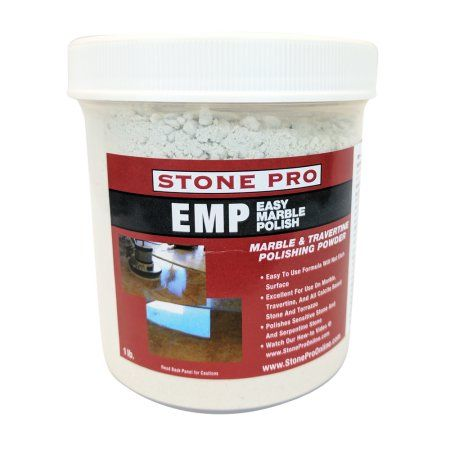 Stone Pro Easy Marble Polish (EMP) - Marble and terrazzo Polishing Powder - 1 Pound