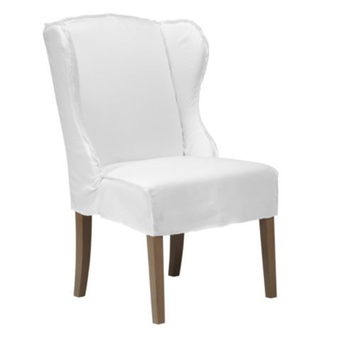 Maddox slipcovered dining chair white dining chairs for Z gallerie dining room chairs