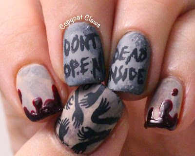The walking dead nails