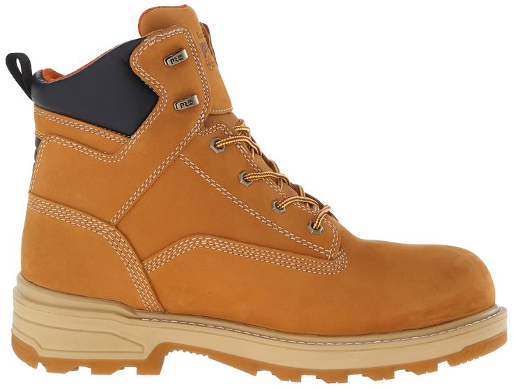 Timberland PRO Mens 6 Inch Resistor Comp Toe Waterproof Ins Work Boot Wheat  Tumbled Full Grain