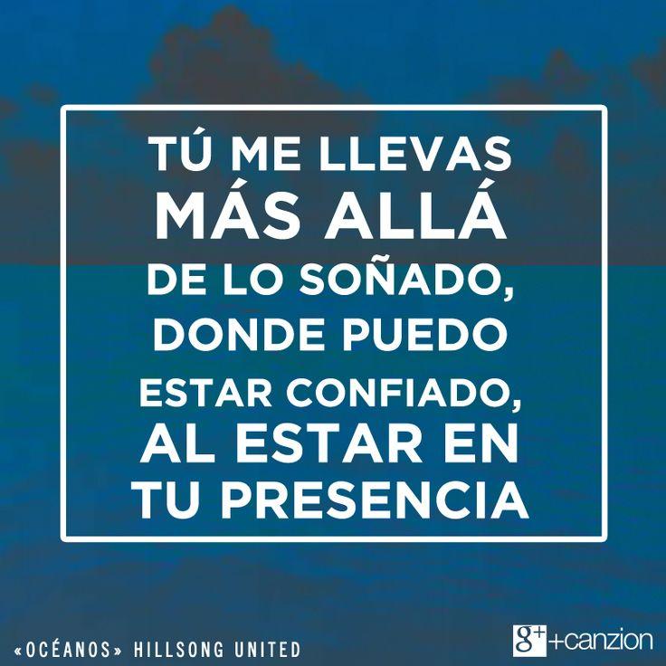 Dios no tiene límites, deja que Él te guíe. —Pin it  Conoce la versión oficial en español de #Océanos de hillsong united ➜ http://canzion.com/cz/index.php?option=com_content&task=view&id=1632&Itemid=32#.VFP2UaV0DyI