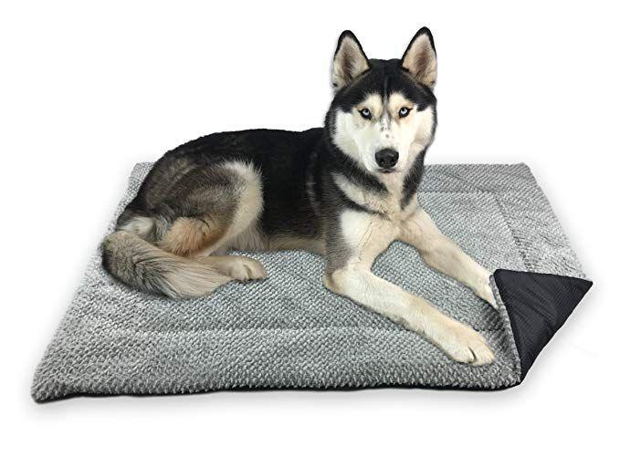 Fluffino Hundedecke Flauschig Weich U Waschbar Grosse L 104 X 68 Cm Grau Erhohte Rutschfestigkeit Durch Gumminoppen Hundedecke Hunde Kissen Hundekissen