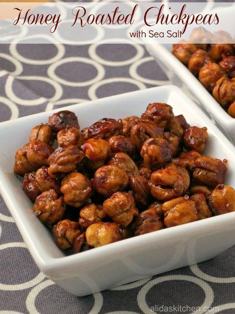 Honey Roasted Chickpeas with Sea Salt