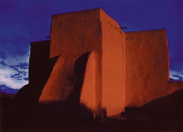 Церковь. Закат на Ранчо де Таос. Нью-Мексико  1948 г.