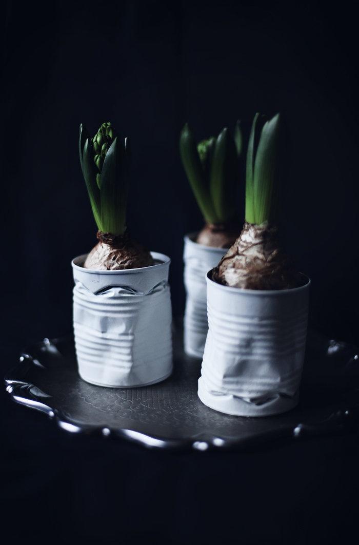 Christmas DIY for crushed flower pots