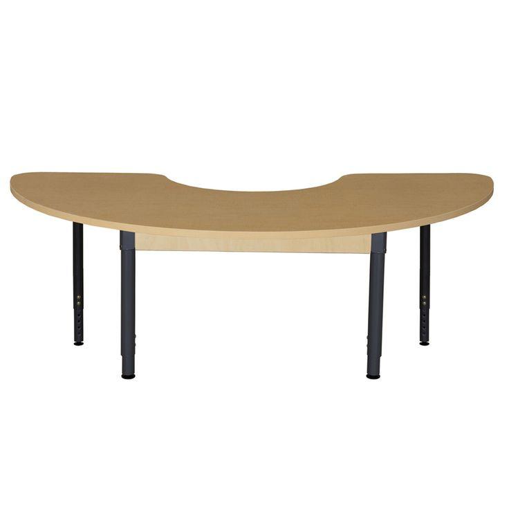 Half Circle High Pressure Laminate Table (Adjustable Legs)