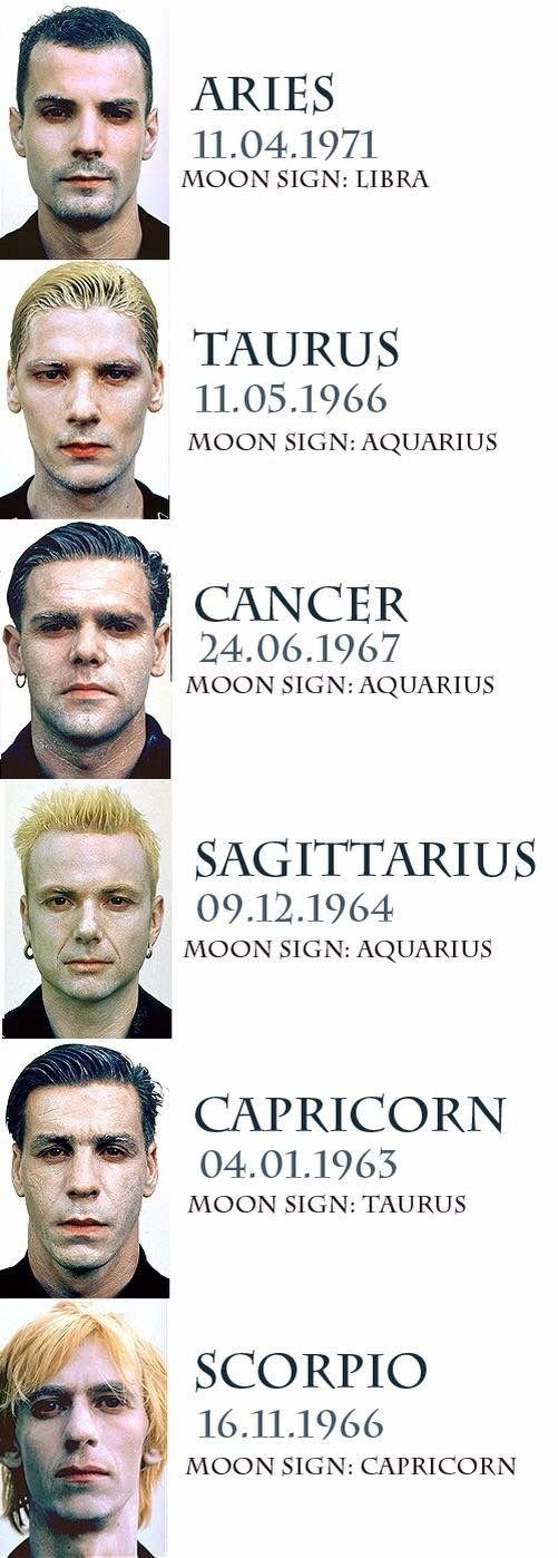 Rammstein + zodiac signs.