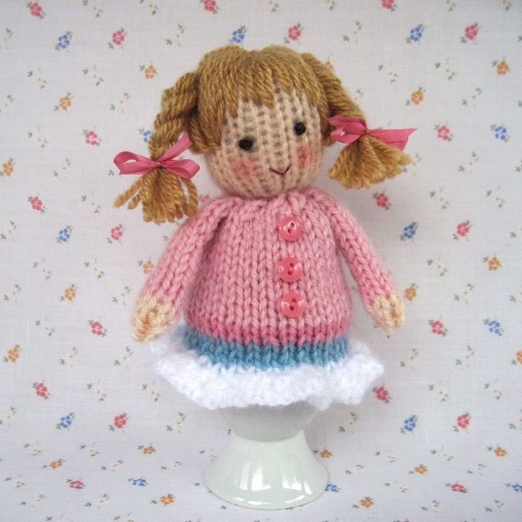 55 best dolly time images on pinterest knitted dolls knitting knitted egg cosy dolls pdf email knitting pattern via etsy negle Image collections