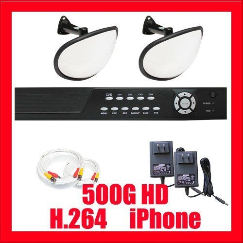 """Professional 4 Channel DVR with 2 x 1/3"""" SONY Super HAD Color CCD Hidden Camera, 540TV Line. iPhone, Android, and VGA support, Real Time Video/Audio Recording by Gw. $605.00. Package Includes: GW2544SV-N DVR with 500G HDD Remote Control and mouse 2 x GWC406 -1/3"""" SONY CCD Hidden Camera 1 x GW60CAW: 60 feet pre-made cable BNC 1 x GW25CAW: 25 feet pre-made cable BNC 2 x GW12V2A: 12V 2A Power Supply for Security Cameras"""