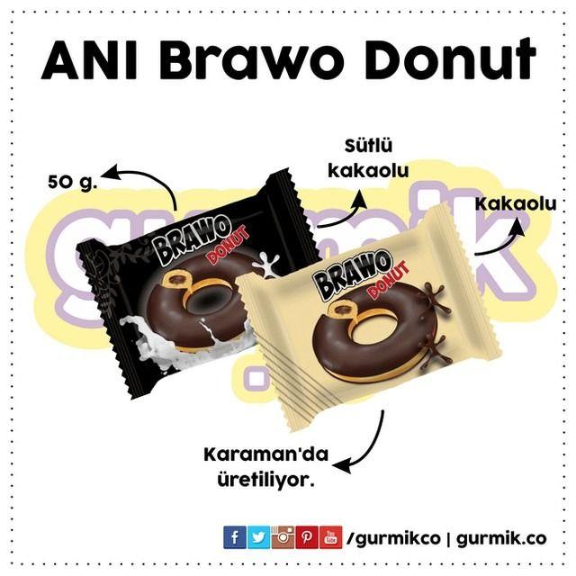 Karamanlı Anı Bisküvi'den farklı bir kek: Brawo #Donut. İster sadece kakaolu, istersen de sütlü kakaolu… Önerilir. :)