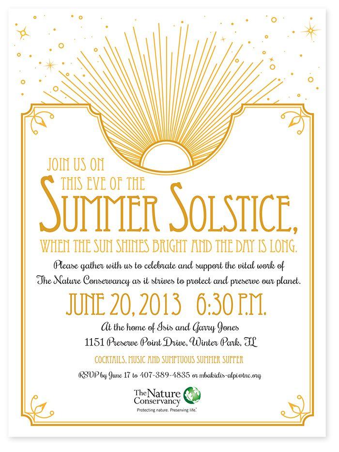 summer solstice party invite - Google Search