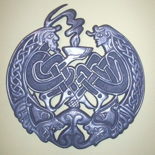 Celtic Plaque by GelertDesign on Etsy, £50.00