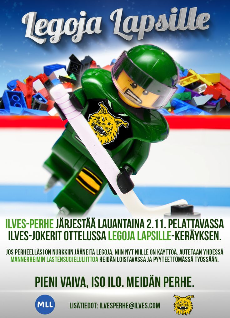 Legoja Lapsille kampanjajuliste / Legos for Kids campaign poster