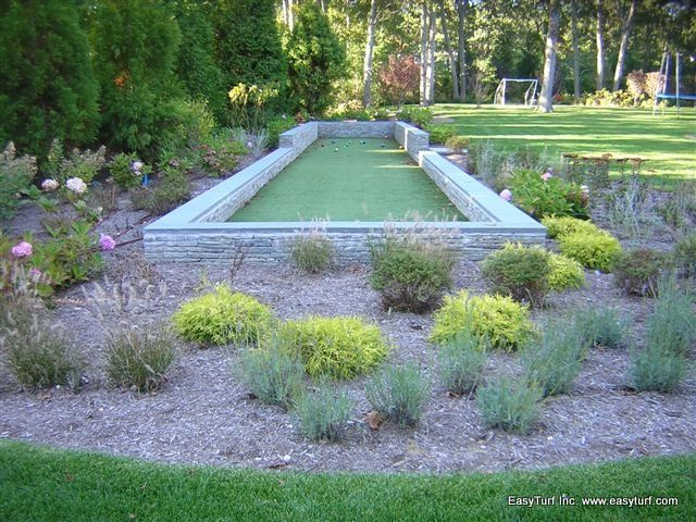 Not only is artificial grass a superior lawn bowling and bocce ball playing surface but EasyTurf also has the best lawn bowling and bocce ball drainage surfaces as well and the year-round perfectly manicured look.