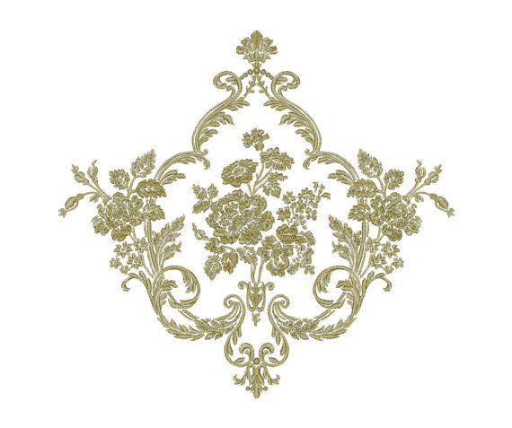 Flower, ornament, pattern - Machine Embroidery Design - Instant Download - Three…