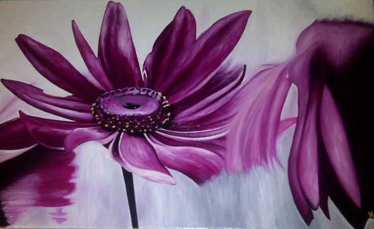 Fucsia January,2013  80 cm x 1,30 cm  Oil on Canvas ( Óleo sobre Tela) www.artsaigg.com