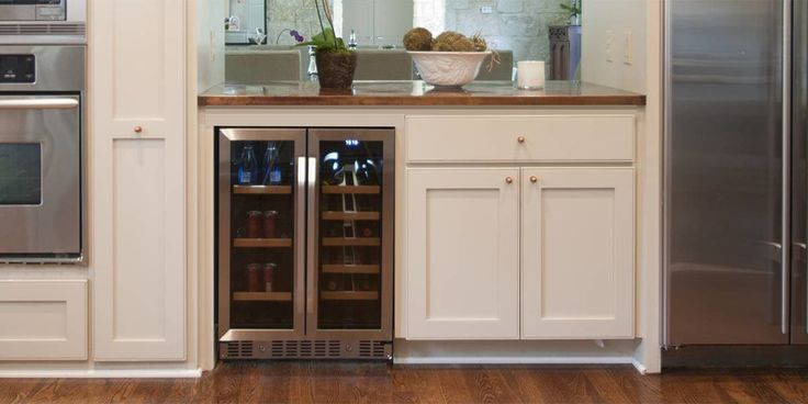 Buy the EdgeStar 24 Inch Built-In Wine and Beverage Cooler for a sleek and stylish beverage center capable of holding up to 17 wine bottles and 60 12 oz. beverage cans...