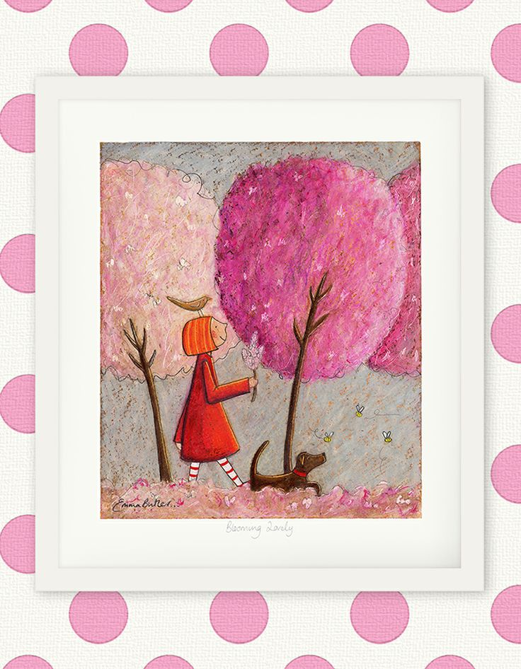 Blooming Lovely - Ruby and Scarlett the dog. By Emma Louise Butler