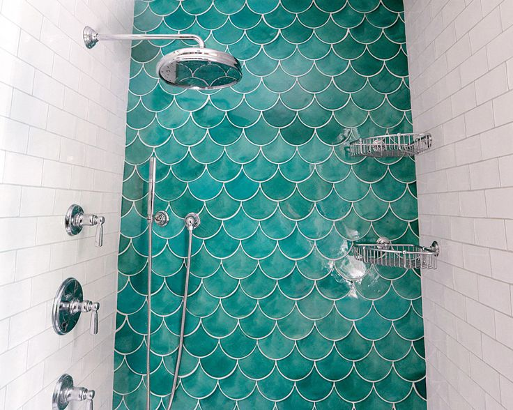 158 best press mercury mosaics images on pinterest for Fish scale tiles bathroom