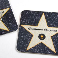 Cadeau original marque place cinéma dessous de verre personnalisé etoile d'hollywood sous-bock personnalisable