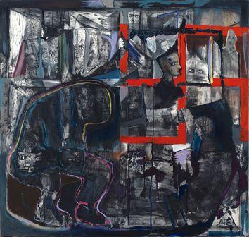 Luis Felipe Noé, Deconstrucción de la memoria, 1998, técnica mixta sobre tela.