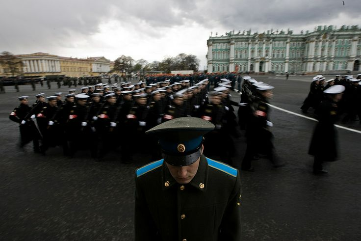 Rehearsal for the Victory Day military parade in St. Petersburg
