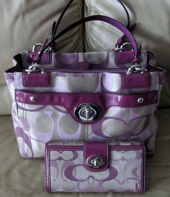 I woukd so rock this COACH  BAG WITH MATCHING WALLET and CHECK BOOK COVER with jeans and a white button down.