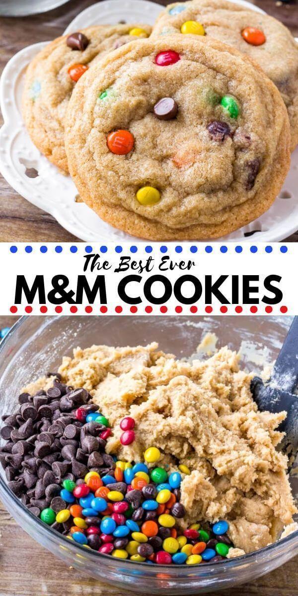 25 + › Weiche und zähe M & M Cookies – #cookies…