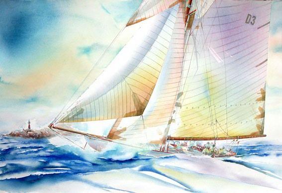Французский художник и яхтсмен Philippe Gavin: dbntytghfyz