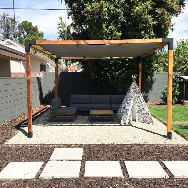 Pergola Kit With Shade Sail For 4x4 Wood Posts Outdoor Pergola Pergola Pergola Plans