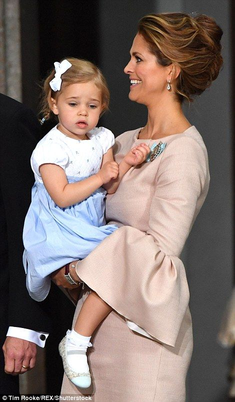 Princess Madeleine with daughter Leonore. Madeleine was yesterday announced as godmother to Prince Oscar