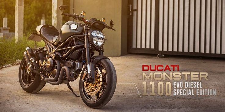 Ducati Monster 1100 EVO Diesel Limited Edition decorated with brutal