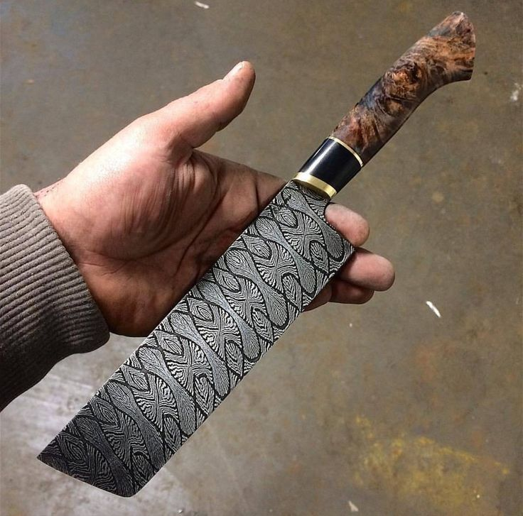 how to make damascus steel patterns