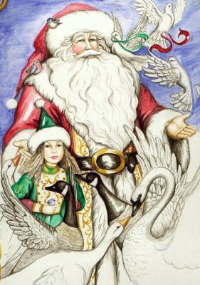 Santa and Elf - Michelle Phelps