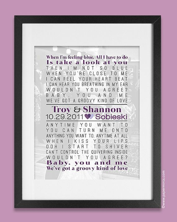 Personalized Holiday Gift Song Lyric Print with by papermintsshop, $54.00