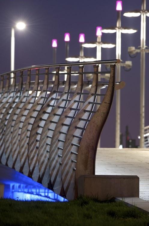 Bespoke fluid balustrade system with innovative in built  LED  lighting  system which creates160 best Lighting images on Pinterest   Street furniture  . Fantastic Lighting. Home Design Ideas