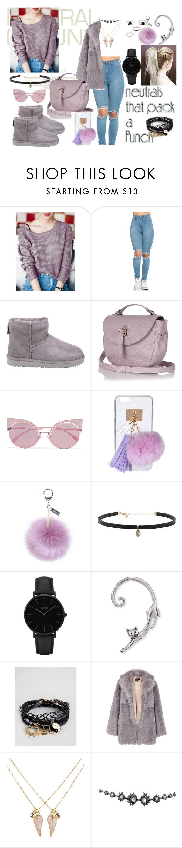 """."" by mrspiink ❤ liked on Polyvore featuring UGG, Meli Melo, Fendi, Ashlyn'd, Helen Moore, Carbon & Hyde, CLUSE, ASOS, TIBI and Accessorize"