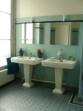17 best images about mid century bathrooms on pinterest for Bathroom ideas 1930s semi