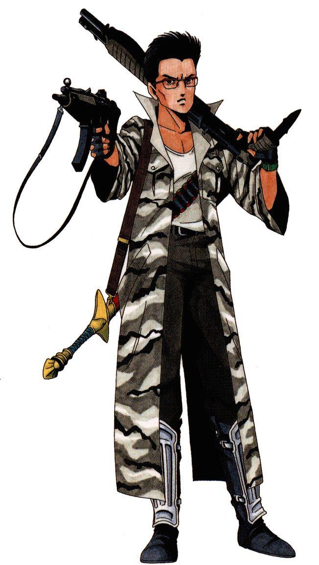 Old artwork of the Chaos Hero for Shin Megami Tensei