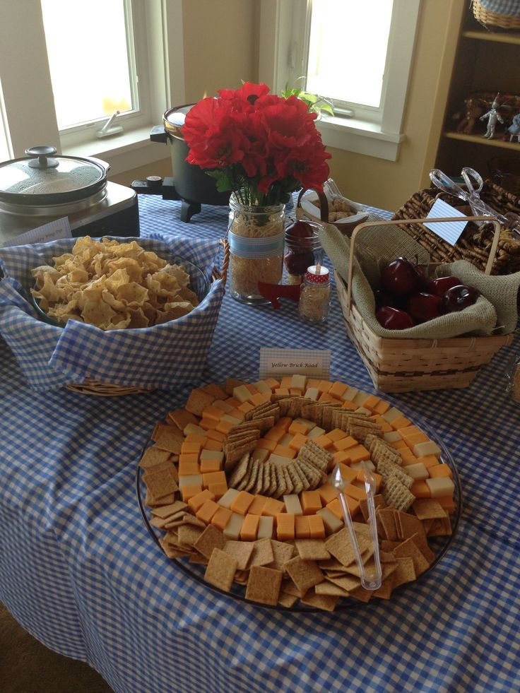Wizard of Oz Bridal ShowerParty food yellow