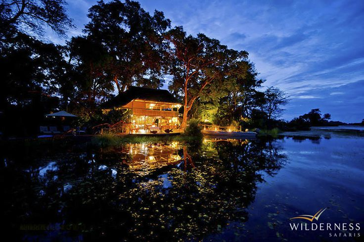 Jacana Camp has five Meru-style tents built on raised wooden decks to facilitate its panoramic views of the Okavango Delta. #Africa #Safari #Botswana