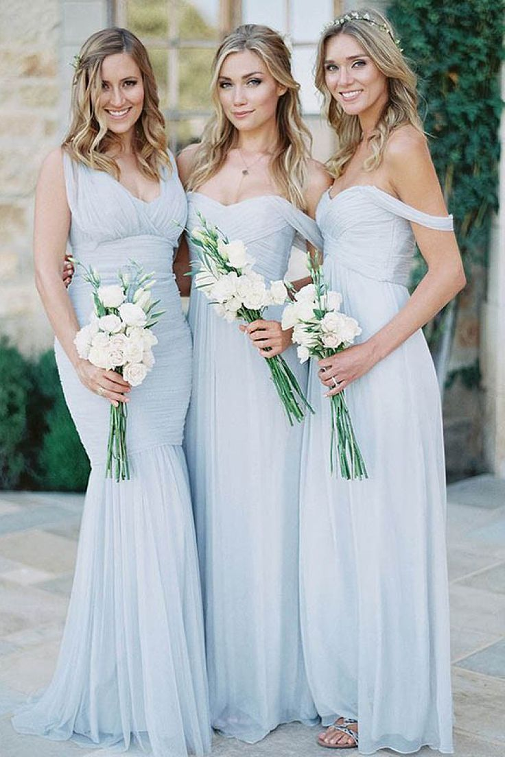 Gorgeous Sleeveless Floor-length Natural Zipper Bridesmaid Dresses - by OKDress…