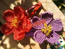 imagenes de flores de macrame - Buscar con Google