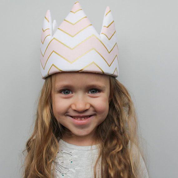 Pink&Gold Zigzag Crown