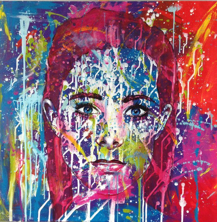 My daughter Bibi, acryl, 100 x 100 cm